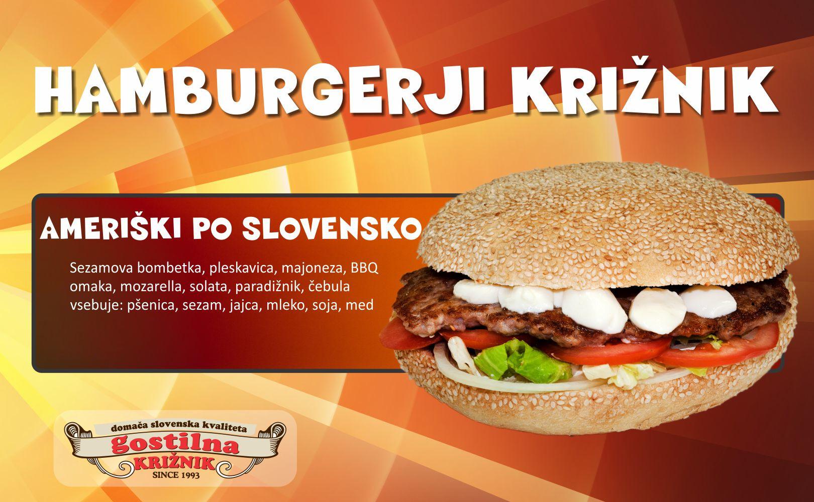 Ameriški hamburger po slovensko