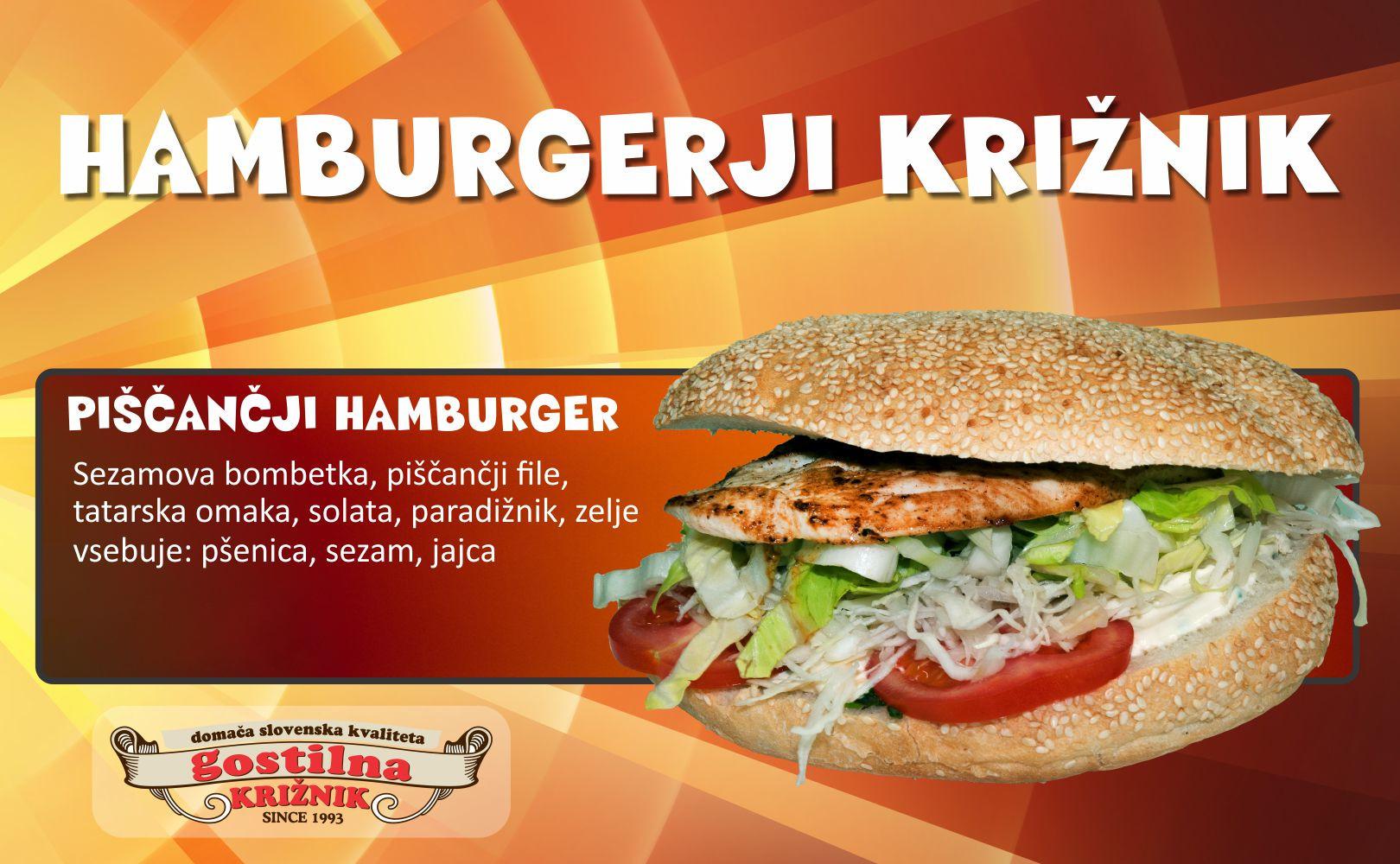 Piščančji hamburger