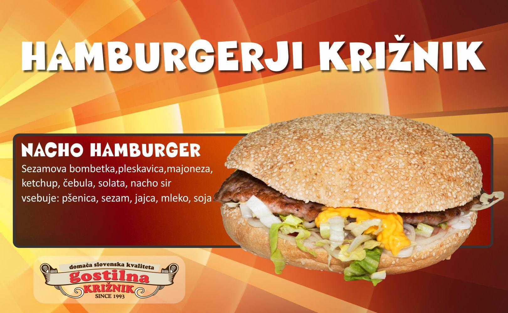 Nacho hamburger