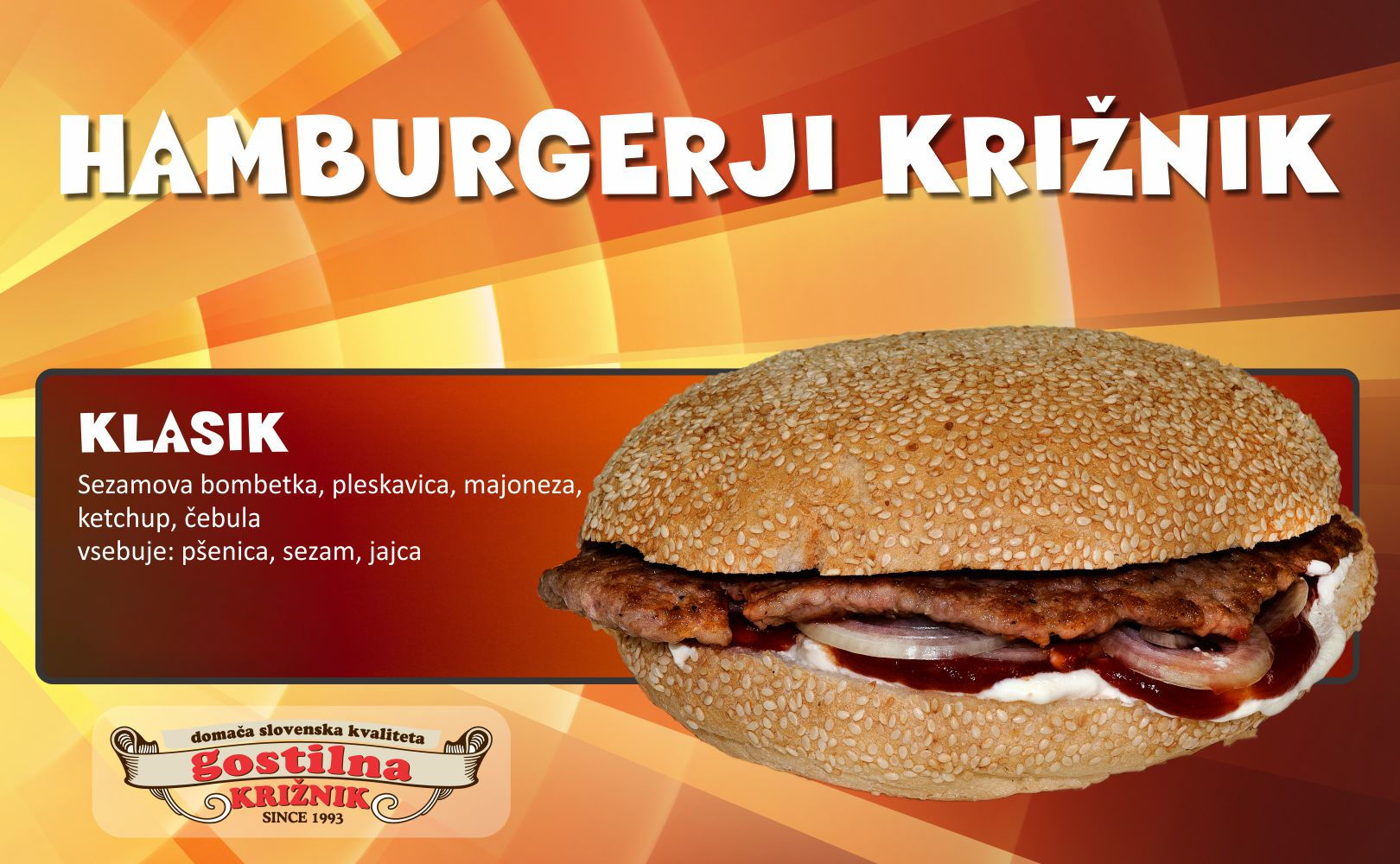 Klasik hamburger