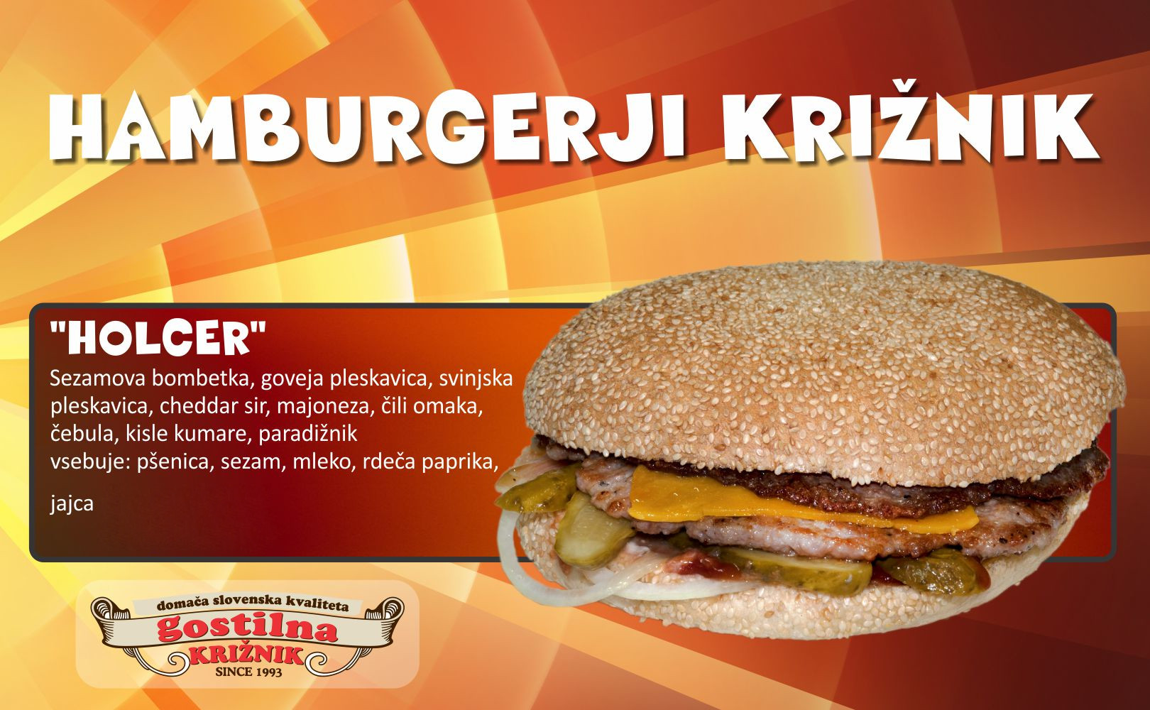 Holcer hamburger