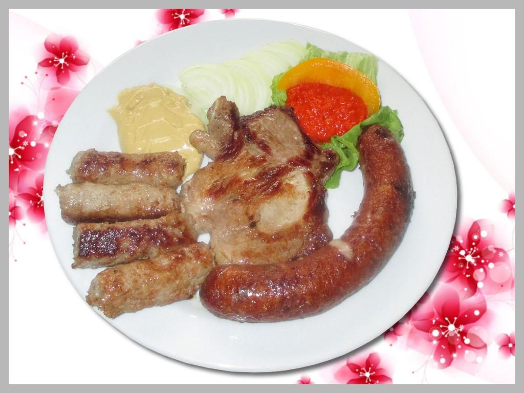 mešano meso iz žara